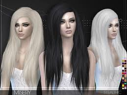 custom hair for sims 4 misery female hair by stealthic at tsr sims 4 updates