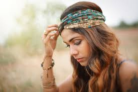 boho headbands indian paisley golden brown boho turban headband by zizway
