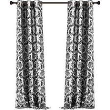 Black And White Damask Curtain Black And White Damask Curtain Panels Rooms