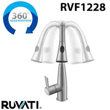 Kitchen Faucet Head by Ruvati Rvf1228st Pullout Spray Kitchen Faucet U2013 Stainless Steel