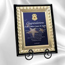 graduation plaque academy graduation gifts and sheriff grad present plaque