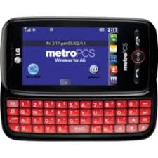 Metro Pcs International Coverage Map by Lg Beacon Metropcs Slider Cell Phone Red Keyboard Camera Touch Mp3