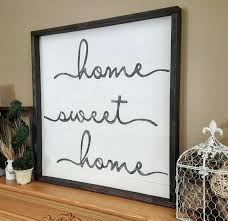 home sweet home sign 24 x 24 home sweet home wood sign wall