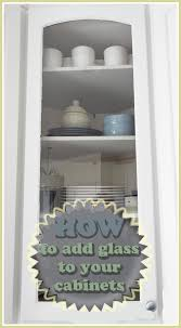 Kitchen Cabinet Doors Diy by How To Put Glass In Cabinet Doors