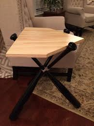 Making Wooden End Tables by Baseball Bat End Table Real Wood Table Bat Table By Krossbattables