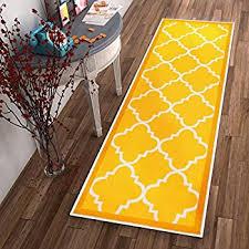 Yellow Runner Rug Modern Yellow Morrocan Trellis Runners 2x8 Hallway