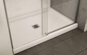 Sliding Bath Shower Screens Rectangular Shower Base Acrylic B3 Maax Bathroom