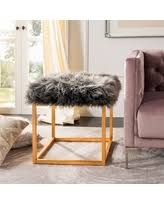 check out these bargains on safavieh oriana sheepskin ottoman black