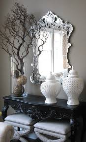 Venetian Console Table Console Table Display Ideas Entry Eclectic With Venetian Mirror