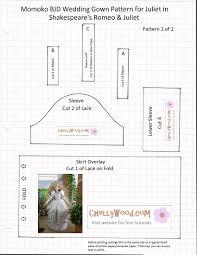 wedding dress patterns free diy wedding gown for momokodoll w free pattern chellywood