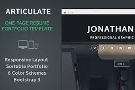Resume Portfolio Template Line One Page Resume Portfolio Bootstrap Themes Creative Market
