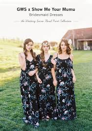 me your wedding dress gws x me your mumu bridesmaid dress collection green
