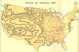 Travel Time Map Rates Of Travel 1857 Academic Technology
