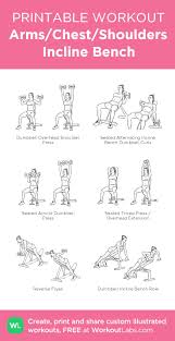 incline bench workout routine bench decoration