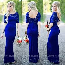 cheap royal blue bridesmaid dresses gorgeous royal blue lace bridesmaid dresses 2016 filly flair