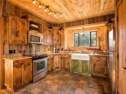 Kitchen Inspiring Kitchen Design With Modern Rustic Themed Using - Cabin kitchen cabinets