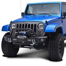 jeep wrangler black lights jeep wrangler jk offroad front bumper with led lights dual stage