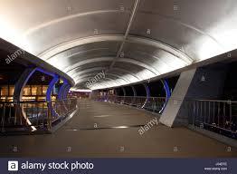 Beautiful Lighting Night Scene Of Beautiful Lighting Overpass Road Crossing Bridge In