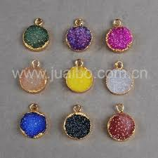 12mm agate druzy stones charms pendant wholesale for