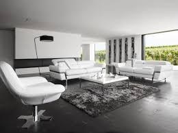 canape cuir blanc et gris deco salon canape blanc