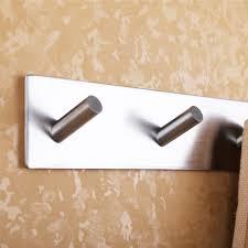 bathroom self adhesive coat and robe hook rack rail with 6 hooks