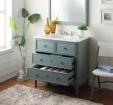 adelina 34 inch vintage bathroom vanity vintage mint blue finish