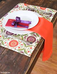 Set The Table by Hanging Napkin Place Setting The Chic Site