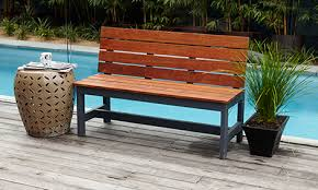 Hardwood Garden Benches How To Make A Wooden D I Y Garden Bench Bunnings Warehouse