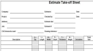 Mechanical Construction Estimating by Project Estimating Sheets Mechanical Piping Estimating Sheet