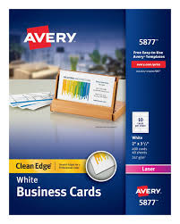avery clean edge u0026reg business cards uncoated 400 cards 5877