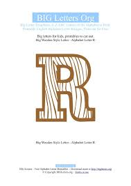 printable big letter r templates big letters org