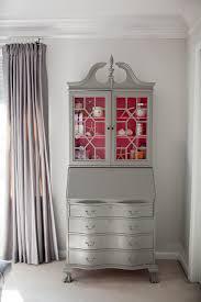 Small Secretary Desk Antique Grey Painted Antique Secretary Desk With Pink Interior Wish I