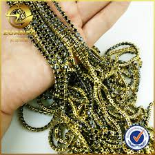 necklace making chains images Best price raw brass cup chain for necklace making 2mm size black jpg