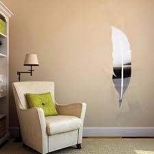 Wall Murals Amazon by Amazon Com Soledi Wall Mirror Diy 3d Feather Mirror Wall Vinyl