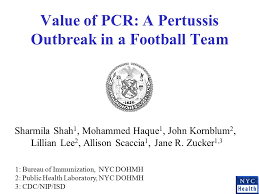 bureau pcr value of pcr a pertussis outbreak in a football team sharmila shah