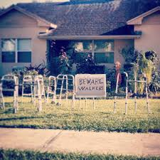 walking dead inspired halloween decorations funny