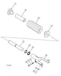 john deere crawler dozer track chain tension adjuster for 450j
