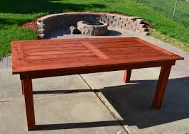 Free Wood End Table Plans by Ana White Beautiful Cedar Patio Table Diy Projects