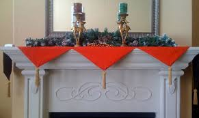 deck the fireplace with a fabric mantel runners j o fabrics