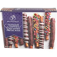 pretzel delivery costco mrs prindables chocolate dipped caramel pretzel rods