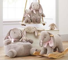 bunny nursery nursery bunny plush rocker pottery barn kids