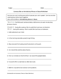 best ideas of phrases and clauses worksheets with worksheet