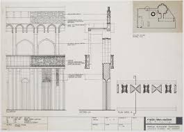 mosque floor plan original architect u0027s drawing of the northwest elevation from the
