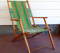 Small Fold Up Camping Chairs Vintage Wood And Canvas Folding Beach Chair Retro Telescope