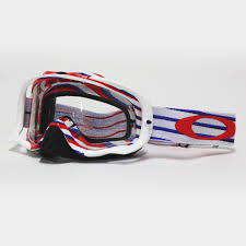 oakley motocross goggles oakley new mx crowbar nemesis red white blue clear motocross dirt