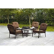 patio table with 4 chairs amazon com 5 piece patio conversation set with fire pit set