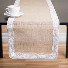 Burlap Lace Table Runner Decor Burlap And Lace Table Runners For Cool Dining Table