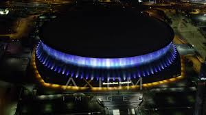 mercedes dome orleans mercedes superdome at orleans aerial stock footage