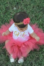 1st birthday tutu birthday girl birthday tutu coral and