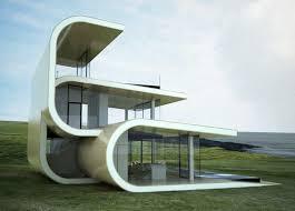 building concept futuristic building designed to mimic ocean waves